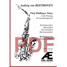 BEETHOVEN Ludwig van: 5 Mödlinger Tänze