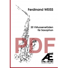 WEISS Ferdinand: 20 Virtuosenetüden für Saxophon