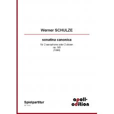 SCHULZE Werner: sonatina canonica für 2 saxophone oder 2 oboen op. 5/8 (1990)