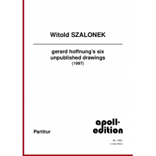 SZALONEK Witold: gerard hoffnung's six unpublished drawings (1997)