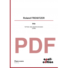 FREISITZER Roland: trio for flute, bass clarinet and piano