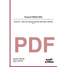 FREISITZER Roland: Scene II – Duo for basset clarinet and bass clarinet