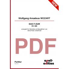MOZART Wolfgang Amadeus: Duo F-Dur KV 423