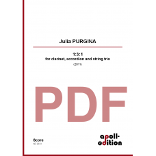 PURGINA Julia: 1:3:1 for clarinet, accordion and string trio