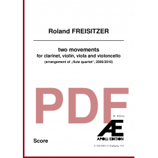 FREISITZER Roland: two movements (2006/2010)