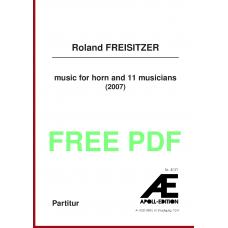 FREISITZER Roland: music for horn and 11 musicians