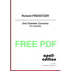 FREISITZER Roland: 2nd Chamber Concerto for ensemble