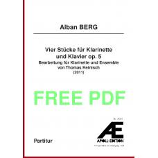BERG Alban: Vier Stücke für Klarinette und Klavier op. 5