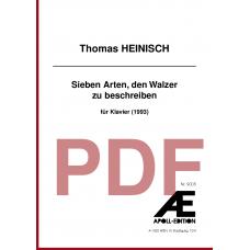 HEINISCH Thomas: Sieben Arten, den Walzer zu beschreiben (1993)