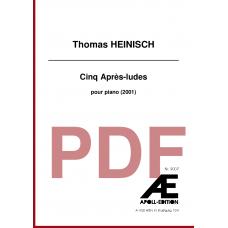 HEINISCH Thomas: Cinq Après-ludes (2001)