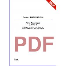 RUBINSTEIN Anton: Rêve Angelique